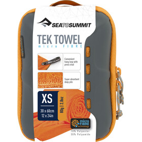 Sea to Summit Tek Serviette pour chien XS, orange